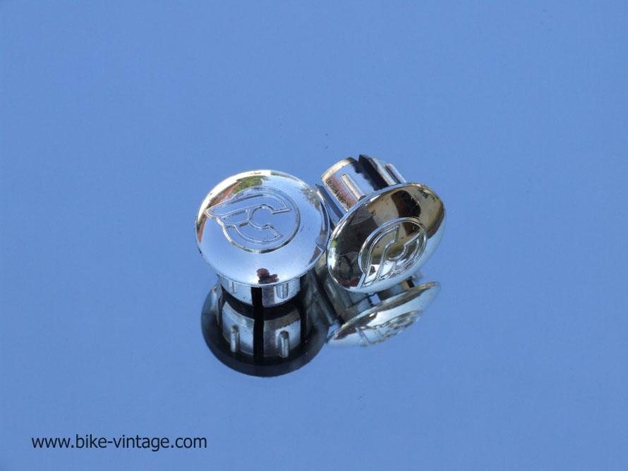 endcaps vintage New chrome Bar End Caps Cinelli silver Handlebar End Plugs